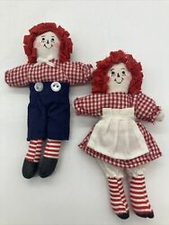 Set Of Raggedy Anne And Andy 5 Inch Dolls