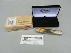 Case Xx Stag Trapper Knife 5254 Ss W/ Box /case 2 Blades 4 1/4 Closed Used