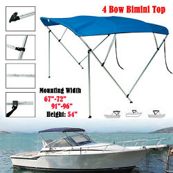 Bimini Top Boat Cover 4 Bow 54 H 67-72 Or 91and039and039-96 W 8ft. Replacement Canvas