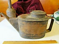 Vintage Buffalo Rochester And Pittsburg Railroad Br And P Rr Oil Can/water Can