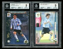 2006 2010 Panini World Cup Lionel Messi Bgs 9 Set Lot 47 44 Argentina