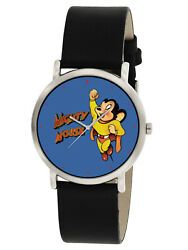 Vintage Mighty Mouse Ultra Colorful 30 Mm Comic Action Art Dabs And Co Wrist Watch