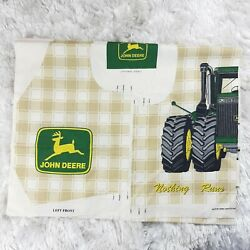 John Deere Tractor Childs Kids Vest Panels Fabric Material Sewing Project Craft