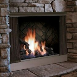 Barbara Jean Collection Ofp42ns Outdoor Fireplace Stainless Steel Millivolt Ng