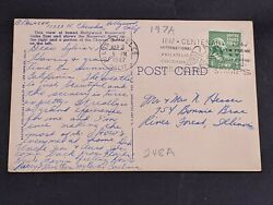 Antique Hollywood Postcard With George Washington 1 Cent Stamp - Postmarked 1947