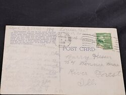 Antique Colorado Postcard With George Washington 1 Cent Stamp - Postmarked 1948