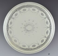 Antique 1907-1947 And Co Sterling Silver Low Footed Tray 10.75
