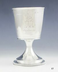 1805 Antique Fine English Georgian Sterling Silver Goblet Cup 6