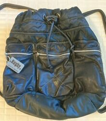 Rugby North America big bucket leather amp; nylon Backpack $75.00