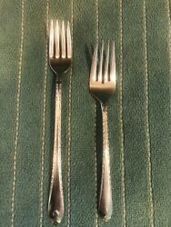 Vintage Wm Rogers And Sons Is Exquisite Silverplate Forks Flatware 2