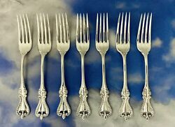 7 Pc Set Old Colonial By Towle Sterling Silver Dinner Table Fork 7-1/2 H-grade