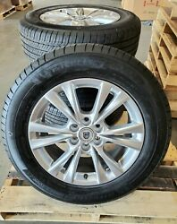 Cadillac Xt5 New 18 Michelin And Silver Alloy Take Off Wheels Oem Set / 4 Sensors