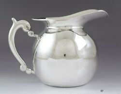 Vintage Handcrafted Peruvian Welsch 900 Silver Water Pitcher 48 Oz Capacity