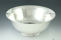 Antique 1940s Arthur Stone Assc. Arts And Crafts Sterling Silver Bowl 9 1/2