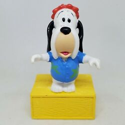 Vintage Droopy Dog Standing on Box 3.5quot; PVC Figure 1989 Turner Entertainment