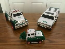 Hess Trucks Toy - 2004, 2011, 2013 - Nice Condition - They Work - Not Complete