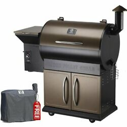 Z Grills Zpg-700d 697 Sq. In. Wood Pellet Grill And Smoker 8-in-1 Bbq Bronze