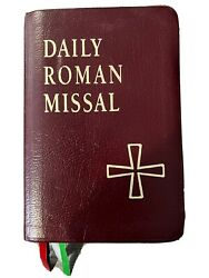 Daily Roman Missal - James Socias - 4th Edition 1998 Bonded Leather Vg Condition