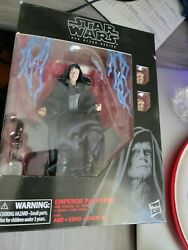 Star Wars The Black Series Emperor Palpatine 6 Inch With Throne - Rare