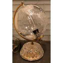 Unique Waterford Crystal World Globe Desk Lamp
