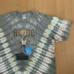 Rare Vintage Item Anvil Acdc Tie-dye Xl-sized Band T-shirt Shipping From Japan