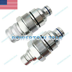 Male And Female Flat Face Quick Coupler For John Deere Loader At406474 And At406475