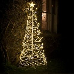 4m Outdoor Spiral Christmas Tree With Warm White Twinkle Leds