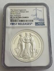 2020 Royal Mint Three Graces Silver Proof Two Ounce 2oz Ngc Pf70 First Releaseandnbsp