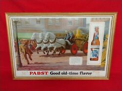 Vintage Pabst Blue Ribbon Good Old Time Flavor Horse Drawn Fire Engine P-604