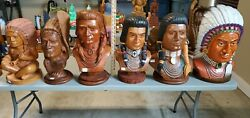 26 Native American Wooden Indian Cigar Store Carved Lot Local Pick Up N. Houston