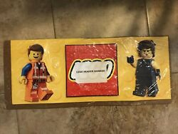 Lego Store Display Signage Collectible Banner Lego Character Inc 2 Side Inserts