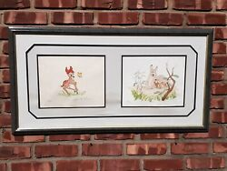 Walt Disney Bambi Limited Edition Litho Signed By Ollie Johnston And Frank Thomas