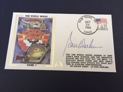 Ron Darling Autographed Game 1 1986 World Series Gateway Cachet