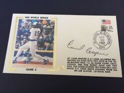 Cecil Cooper Autographed Game 4 1982 World Series Gateway Cachet