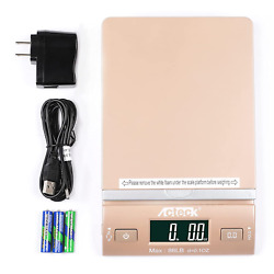 Acteck 86lbx0.1oz Digital Shipping And Postal Scale With Batteries, Usb Cable An