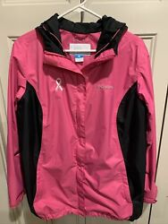 Columbia Womens Omni-tech Waterproof-breathable Jacket. Breast Cancer Awareness