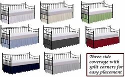 Dust Ruffle Bed Skirt Split Corners For Day Bed 100 Polycotton Twin Full Size