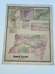 Antique Map Of North Salem Croton Purdy Ny Beers Atlas 1867 14 By 17
