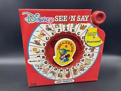 Vintage Mattel See And039n Say Safe And039n Sound Disney Mickeyandrsquos Abc Euro Italiandg