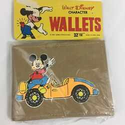 Vintage Wallet Walt Disney Productions Character Mickey Mouse Power Car NOS $24.99