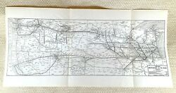 1916 Antique Railroad Map Chicago Milwaukee And St Paul Railway American Transport