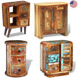 Sideboard Solid Reclaimed Wood Cabinet Buffets Storage Unit With Drawers Shelf