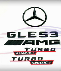 For Mercedes Amg 4matic+ Black Red Emblem Star Boot Trunk Gle53 Coupe C167 Turbo