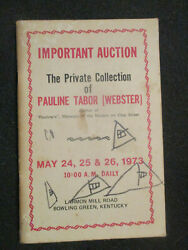 Auction Catalog. 1973. Collection Of Pauline Tabor. Paulineand039s Of Bowling Green