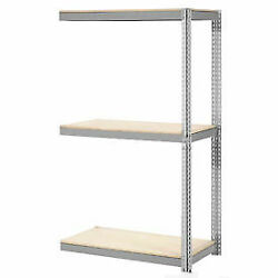 Expandable Add-on Rack With 3 Levels Wood Deck, 1100lb Cap Per Level, 96w X