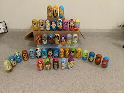 Lot Of 40 Different Kellogg's Exclusive Disney Weeble Wobble  Used