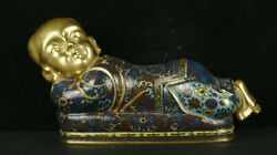 10 Qianlong Marked Colour Enameled Porcelain Gilt Tongzi Pillow Weeping Willow