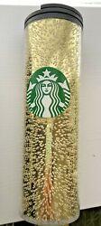 Starbucks Holiday Christmas 2020 Gold Champagne Bubbles Cup Tumbler New