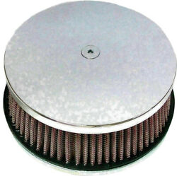 Harddrive Chrome Classic Smooth Custom Round Air Cleaners 5 7/8
