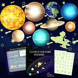Glow In The Dark Stars And Planets Vinyl Kids Wall Decor Stickers For Ceiling
